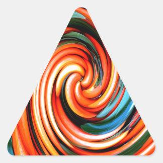 Orange Cyclone. Triangle Sticker