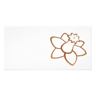 Orange Daffodil Photo Card