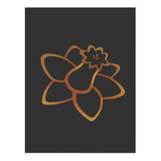 Orange Daffodil Postcard