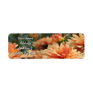 Orange Dahlia Blossoms Label