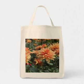 Orange Dahlia blossoms Tote Bag