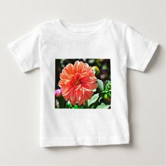 Orange Dahlia Flower Tee Shirt