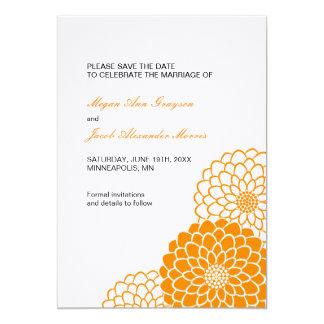 Orange Dahlia Save the Date Invitation