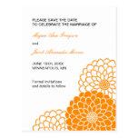 Orange Dahlia Save the Date Postcard