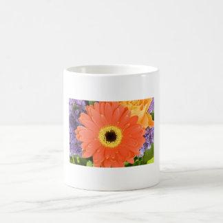 Orange daisey coffee mug