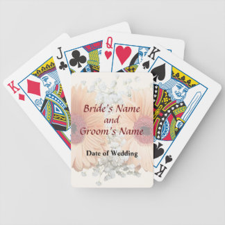 Orange Daisies and Stephanotis Wedding Products Bicycle Playing Cards