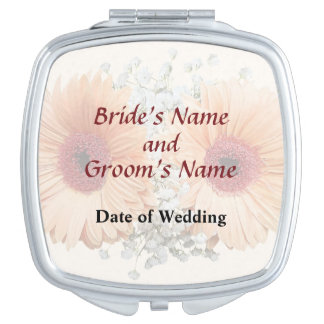 Orange Daisies and Stephanotis Wedding Products Compact Mirror