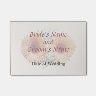 Orange Daisies and Stephanotis Wedding Products Post-it Notes