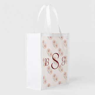 Orange Daisies and Stephanotis Wedding Products Reusable Grocery Bag