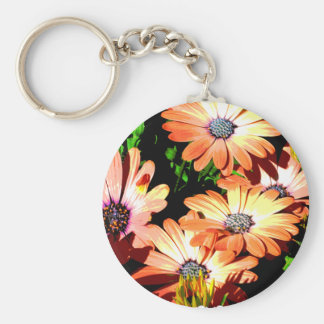 Orange Daisies Keychain