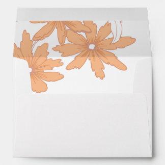Orange Daisies on White Envelope