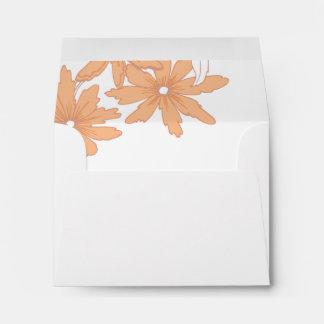 Orange Daisies Wedding RSVP Response Card Envelope