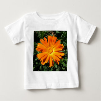 Orange Daisy design Customizable Baby T-Shirt