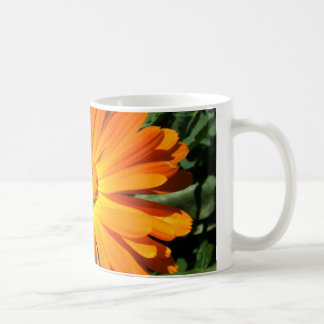 Orange Daisy design Customizable Coffee Mug