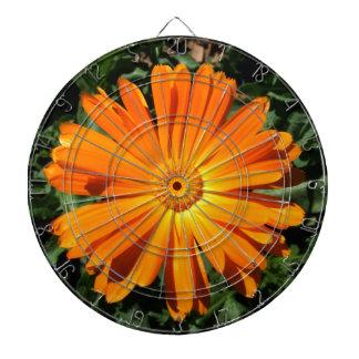 Orange Daisy design Customizable Dartboards