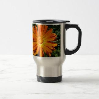 Orange Daisy design Customizable Travel Mug
