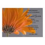 "Orange Daisy Engagement Party Invitation 5"" X 7"" Invitation Card"