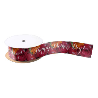 Orange Daisy Flower Red Roses Floral Bouquet Satin Ribbon
