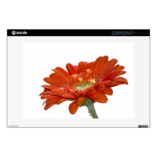 "Orange Daisy Gerbera Flower Decal For 13"" Laptop"