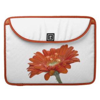 Orange Daisy Gerbera Flower Sleeve For MacBooks