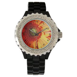 Orange Daisy Mousepad Wristwatch