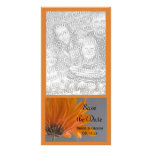Orange Daisy Save the Date Announcement Photo Card