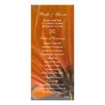Orange Daisy Wedding Program Rack Card Design