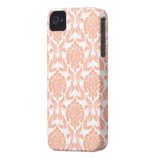 Orange Damask Pattern Case-Mate iPhone 4 Case