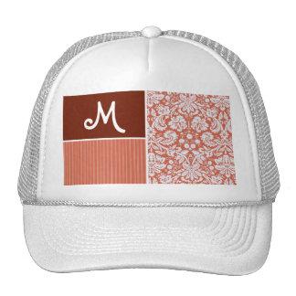Orange Damask Pattern Hat
