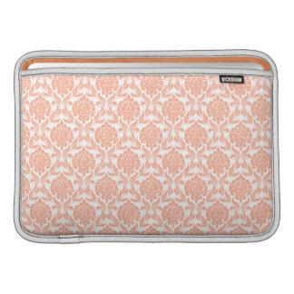 Orange Damask Pattern Macbook Air Sleeve