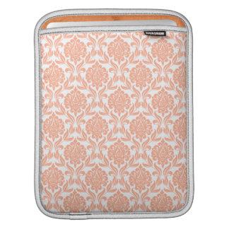 Orange Damask Pattern Sleeve For iPads