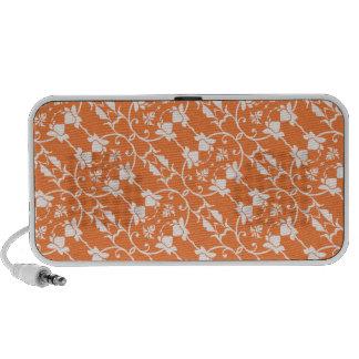 Orange Damask Pattern Speaker