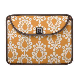 Orange Damask Rickshaw Sleeve for MacBook Pro