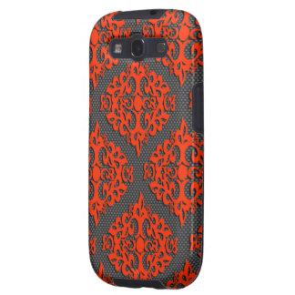 Orange Damask Samsung Galaxy Samsung Galaxy SIII Cases