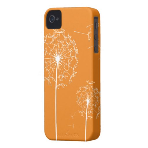 orange dandelion 2 Case-mate Iphone 4 Case