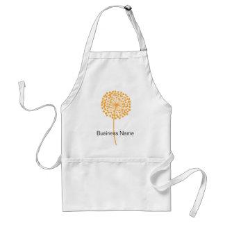 Orange Dandelion Customizable Apron
