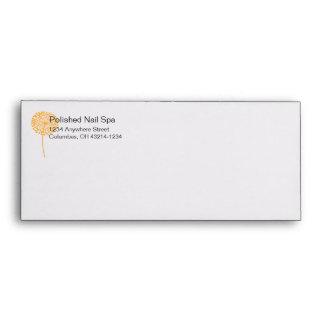 Orange Dandelion Flower Customizable Envelopes