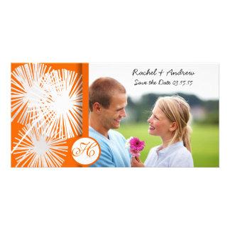 Orange Dandelion Save the Date Card
