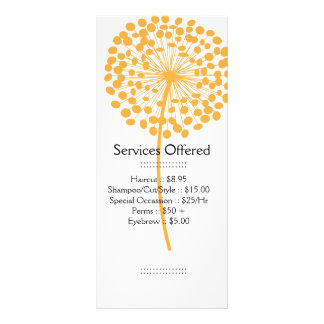 Orange Dandelion Services Rack Card