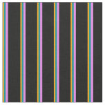 [ Thumbnail: Orange, Dark Cyan, Violet, and Black Colored Fabric ]