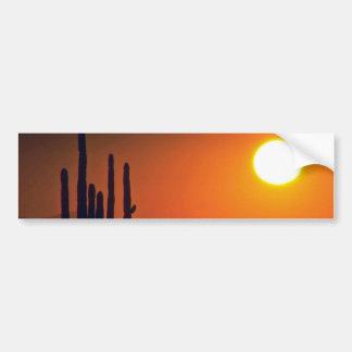 Orange Dark Evening Bumper Sticker
