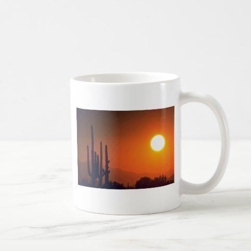 Orange Dark Evening Classic White Coffee Mug