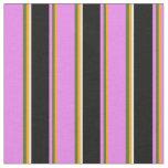 [ Thumbnail: Orange, Dark Olive Green, Violet, Black & White Fabric ]