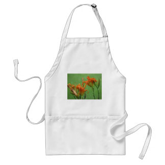 Orange Day Lilies Adult Apron