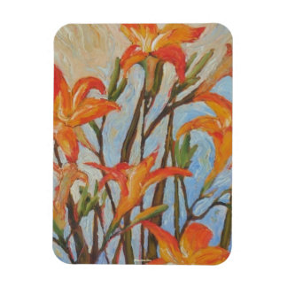 Orange Day Lilies Premium Magnet