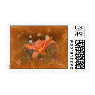 Orange Day Lily 3 Postage