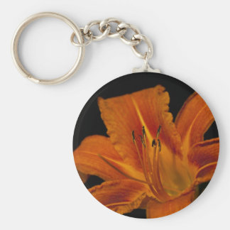 Orange Day Lily Keychain