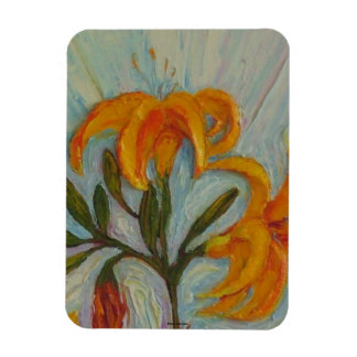 Orange Day Lily Magnet