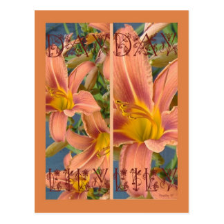 ORANGE DAYLILIES BOOKMARKS POST CARD