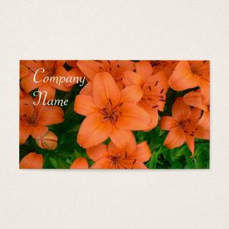 Orange daylilies business cards